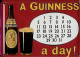 Guinness Calendar metal postcard / mini sign   (hi)